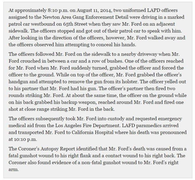 LAPD Statemenr