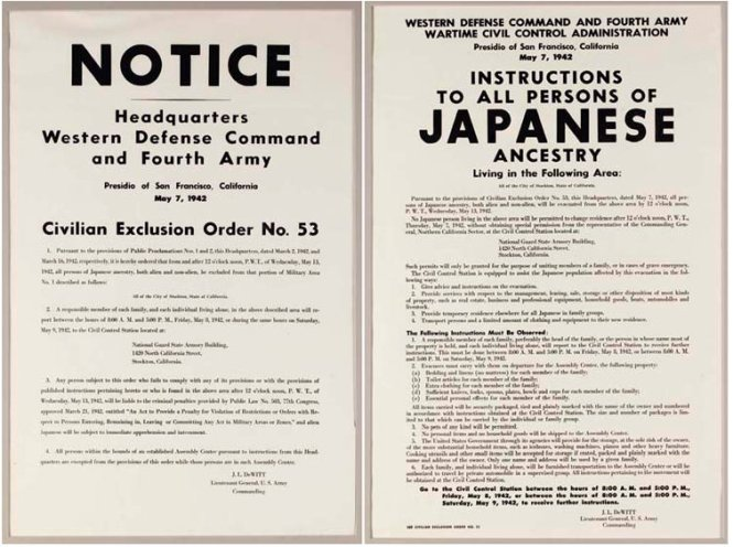 #LetOurVoicesEcho Japanese Internment Instructions